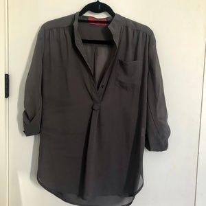 AKIRA Red Label Gray Blouse